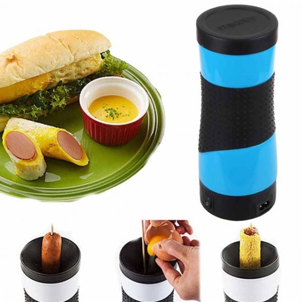 Electric Egg Roll Machine  Sausage Boiler Omelette Cooking Machine EU Plug Blue