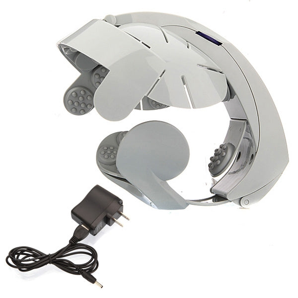 Electric Head Massager Scalp Massage Relax Acupuncture Points Gray