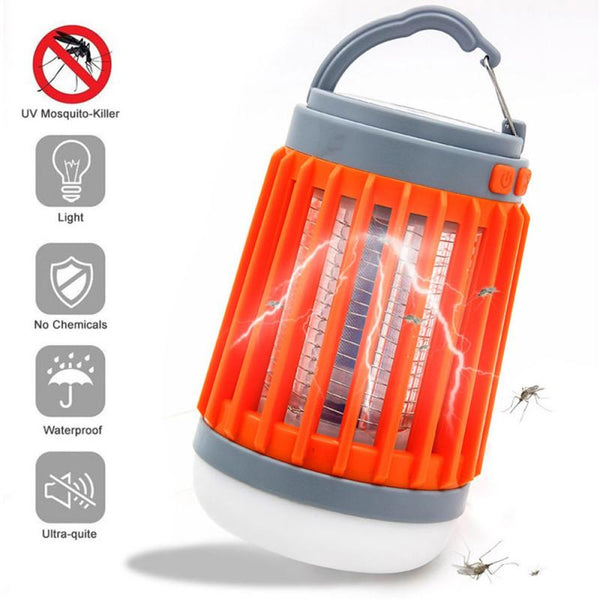 3 in 1 Solar USB Rechargeable Mosquito Killer Flashlight Lamp Outdoor Camping Courtyard Home Use