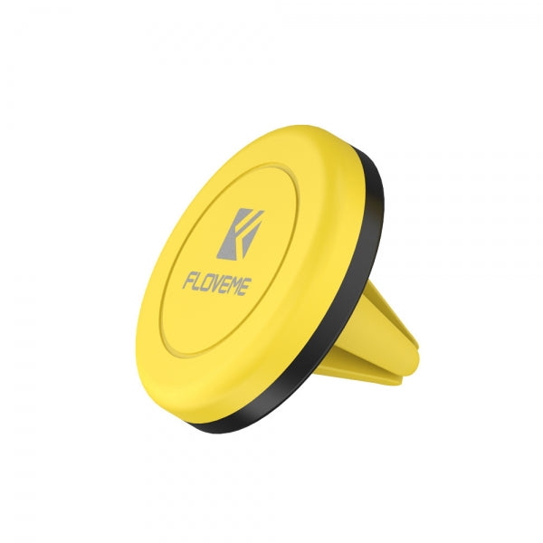FLOVEME Universal Magnetic Car Phone Holder Silicone Multifunctional Mount Stand - Yellow