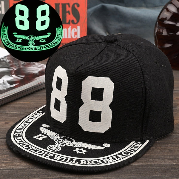 Unisex Glow In The Dark Luminous Hat Snapback Baseball Hip-Hop Night Fluorescent Cap - #06