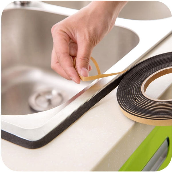 Gas Stove Cooker Slit Antifouling Strip Sealing Tape for Sealing the Gaps Sink Windows and Cabinet Kitchen Tool Black