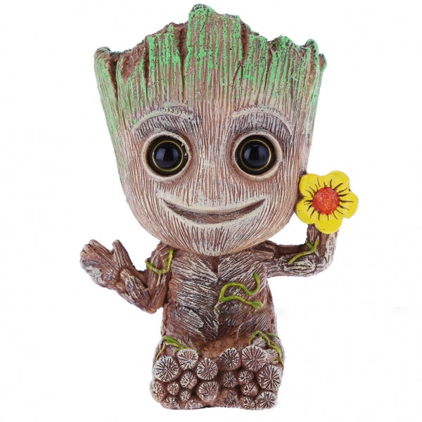 Groot Tree Shape Aquarium Fish Tank Decor Oxygen Pump Air Bubble Stone - Small Flower Version