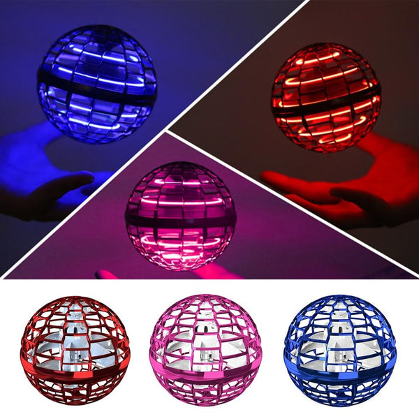Colourful Electronic Induction UFO Flying Swivel Fingertip Gyro Spinner Ball Decompress Toys Outdoor Games Kids Toys Baby Gift