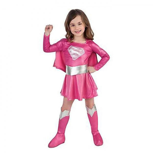 Children Cosplay Costume Superman Style Girl Dress Kit Halloween Party Gift L