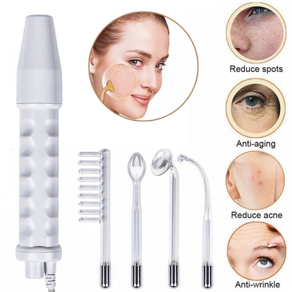 Portable Handheld High Frequency Skin Therapy Wand Machine w/Neon for Skin Tightening/Acne Treatment/Hair Follicle Stimulator 110V US Plug