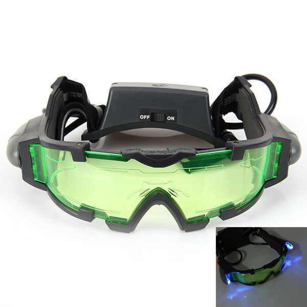 Portable Night Vision Goggle w/ Flip-Out Lights Green Lens for Outdoor Emergency Use Protect Children's Eyes