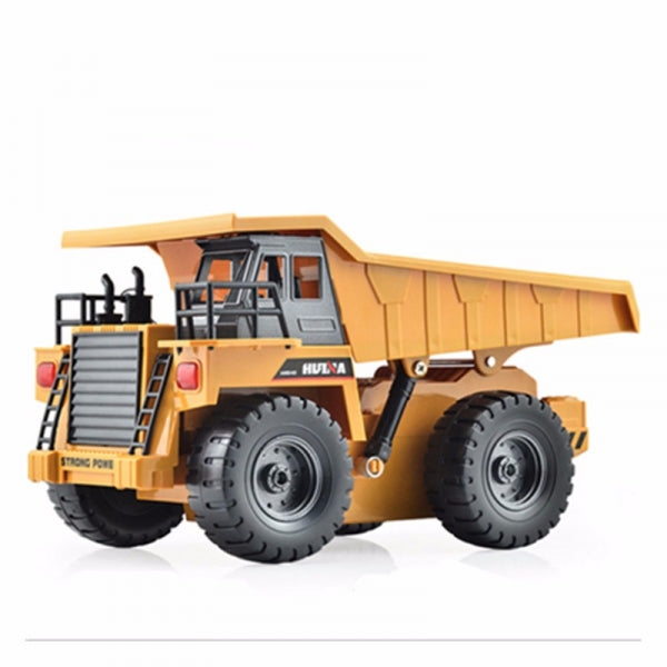 HuiNa Toys 1540 6-Channel 1/18 RC Metal Dump Truck Toy Brown