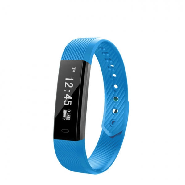 ID115 Smart Band Fitness Tracker Bracelet Pedometer Bluetooth Wristband Watch Blue