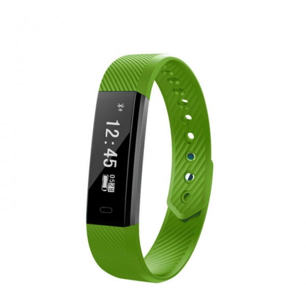 ID115 Smart Band Sleep Bracelet Bluetooth Waterproof Passometer Watch Green
