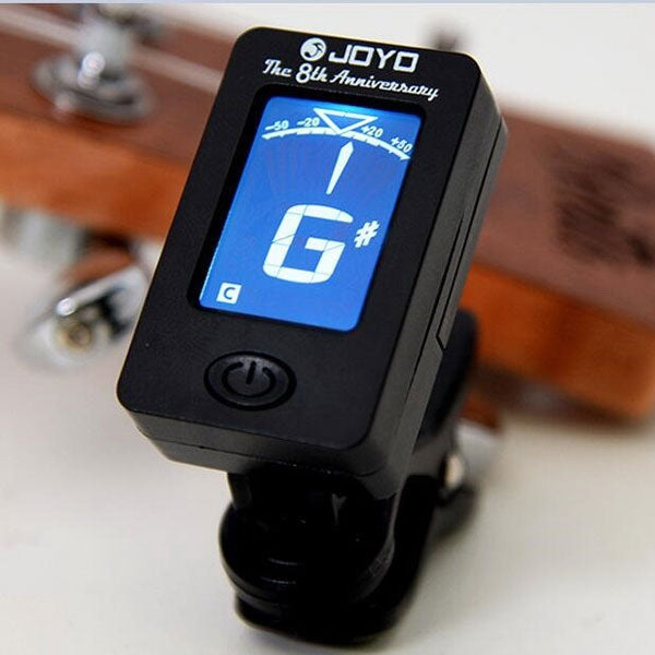 JOYO JT-01 Clip-on LCD 360-Degree Rotation Chromatic Digital Guitar Tuner for Bass Ukulele Violin