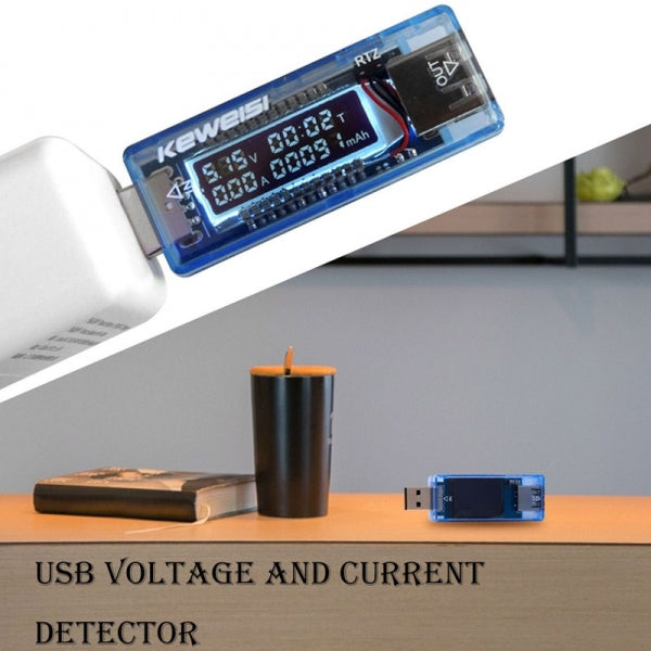 KEWEISI USB Charger Doctor Capacity Time Current Voltage Detector Battery Tester Meter Mobile Power 3V-9V Worldwide Universal