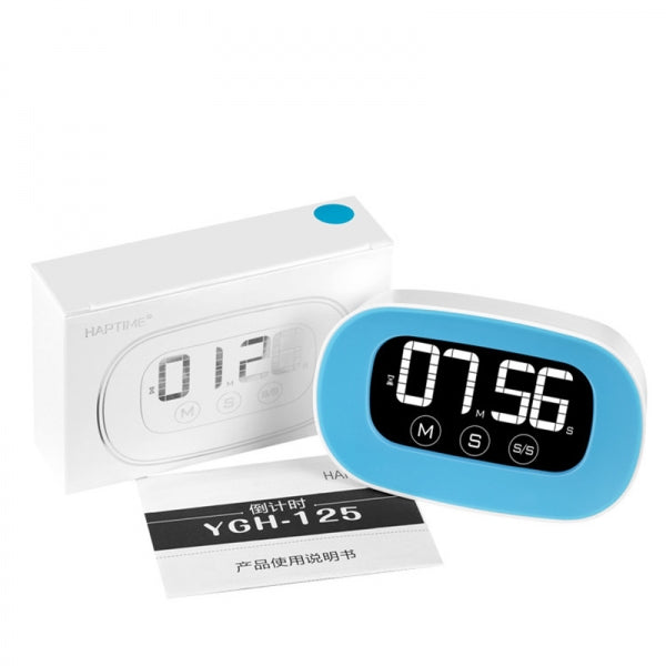 LCD Digital Touch Screen Kitchen Timer Practical Cooking Count down Alarm Clock Blue