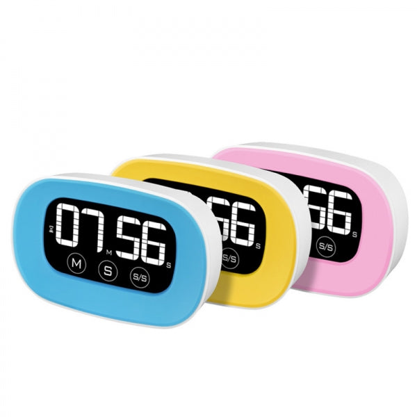 LCD Digital Touch Screen Timer Kitchen Cooking Count Down Clock Pink