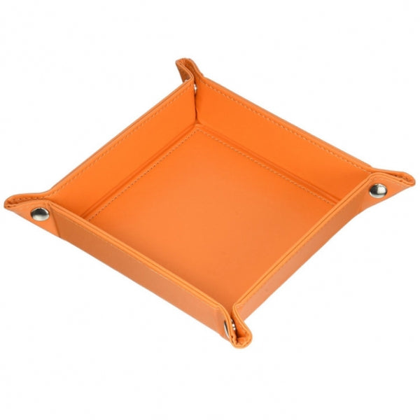 Leather Change Key Sundries Storage Tray Storage Box Household Items Decoration - Orange