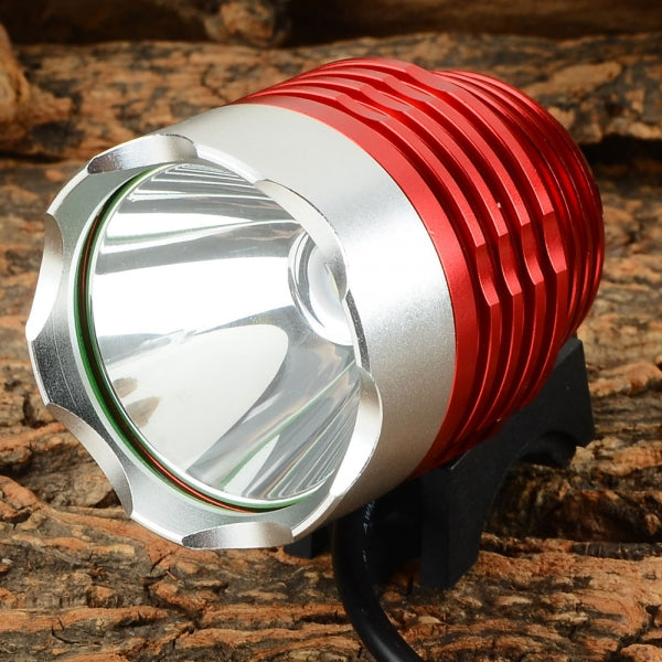 LetterFire 800LM 3-Mode USB Bicycle Light White Light - Red & Silver