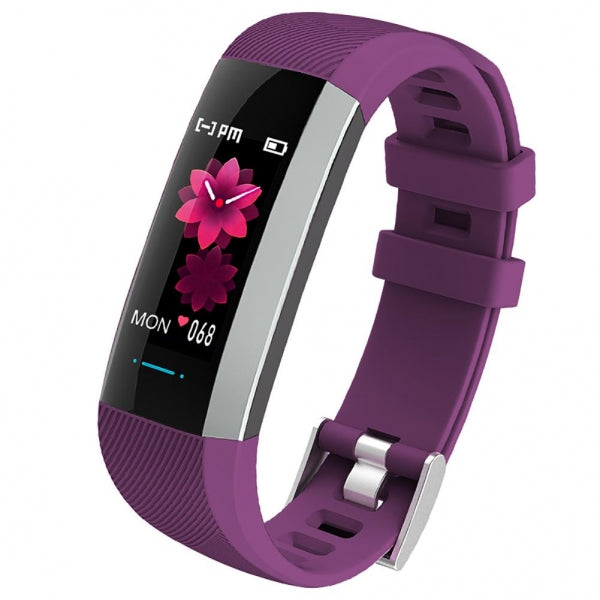 M2 Max IP67 Waterproof Color Screen Bluetooth Heart Rate Blood Pressure Sleep Monitor Multi-sport Mode Tracker Fitness Smart Bracelet - Purple