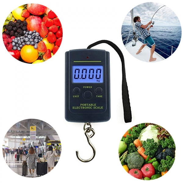 40kg/10g 1.5 Portable Electronic Scale / Hook Scale / Fishing Scale