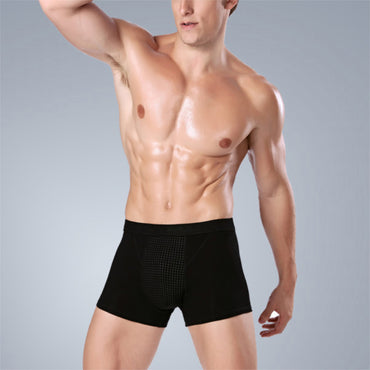 Men Boxer Men Magnet Underwear Health Care Function Mesh Breathable Magnet Therapy Shorts Men's Boxers Energy Shorts
