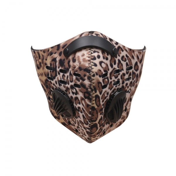 Activated Carbon Air Filter Cycling Sports Training Half Face Dustproof Mask - Leopard Print