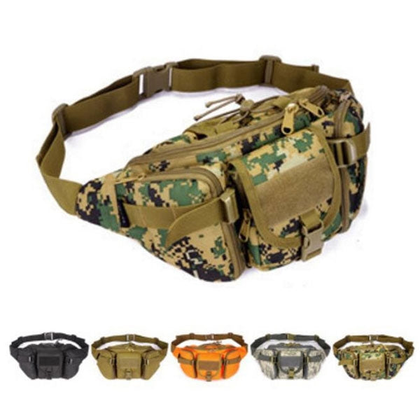 Men's Nylon Waist Bag Crossbody Bag Outdoor Sports Hiking Travel Riding  Oxford Mobile Phone Wallet Travel Bag Jungle Digital