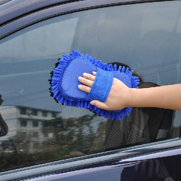 Microfiber Car Wash Glove Style Brush Random Color