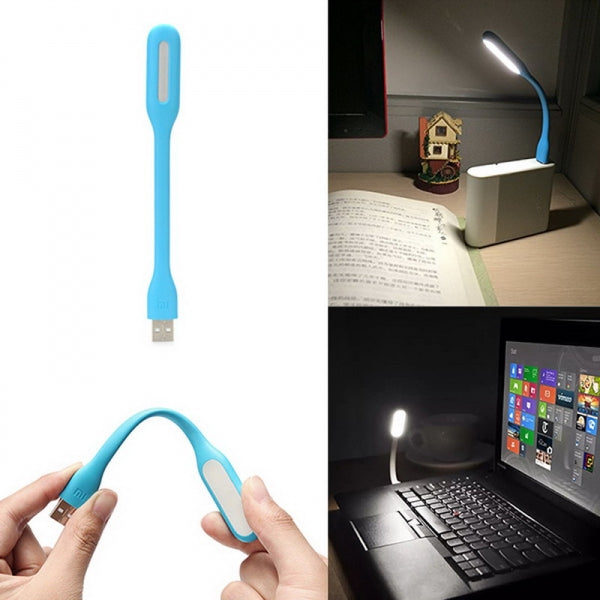 Mini Portable USB LED Light for For Computer Notebook PC Laptop Power Bank - Blue