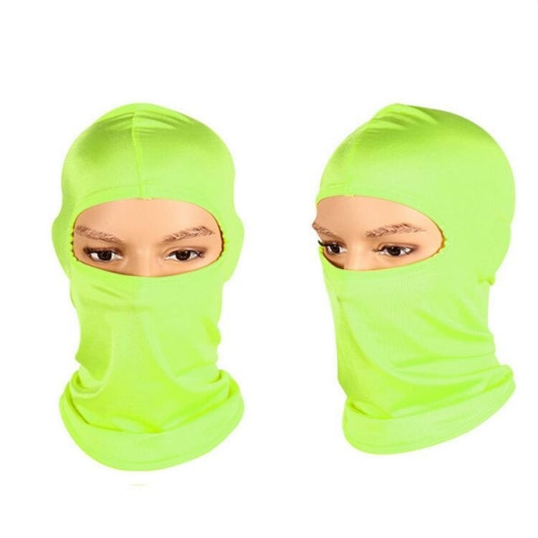 Motorcycle Cycling Ski Neck Protecting Lycra Full Face Mask - Green