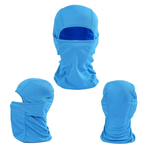 Motorcycle Windproof CS Face Mask Anti-UV Scarf Hood - Blue