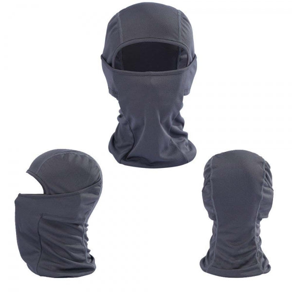 Motorcycle Windproof CS Face Mask Anti-UV Scarf Hood - Gray