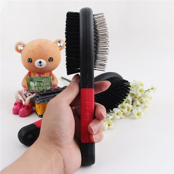 Portable Double Sides Pet Massage Brush & Comb Pet Grooming Tool S