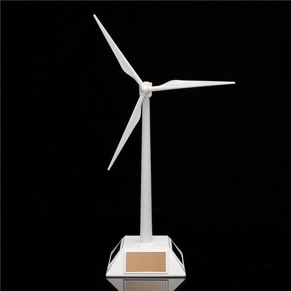 New Science Toy Desktop Model Solar Powered Windmills/Wind Turbine White