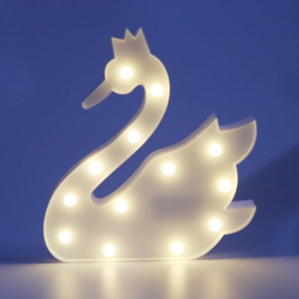 Novelty 3D Table LED Nightlight White Swan