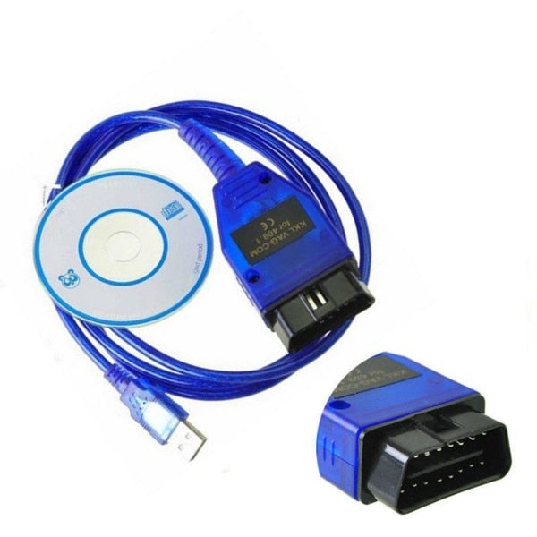 OBD2 USB Cable VAG-COM KKL 409.1 Auto Scanner Scan Tool For Seat Diagnostic Tools Car Styling