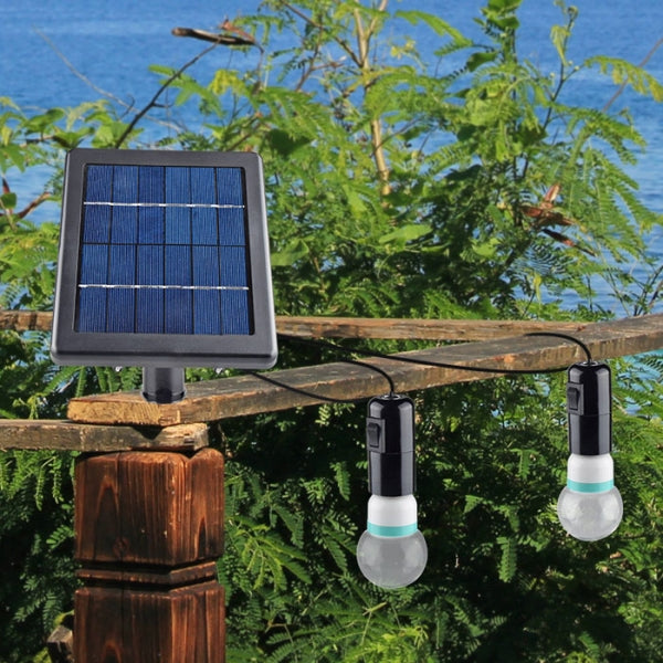 Outdoor/Indoor Solar Powered LED Lighting System Light Lamp Black