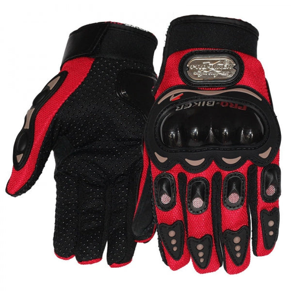 Full Finger Motorcycle Cycling Safety Protection Gloves Red L