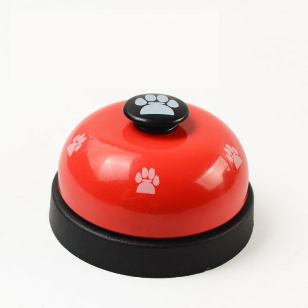 Pet Toy Training Called Dinner Small Bell Footprint Ring Dog Toys For Teddy Puppy Pet Call - Red