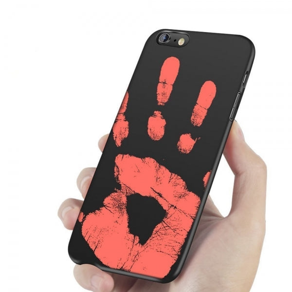 Novelty HOT Color Change Heat Sensitive Case Cover for iPhone 6/6S Black