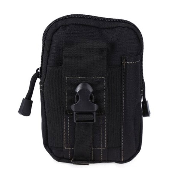 Men Waist Bag Portable Waterproof 1000D Waterproof Oxford Men's Military Tactical Waist Bag Mobile Phone Wallet Travel Bag Black