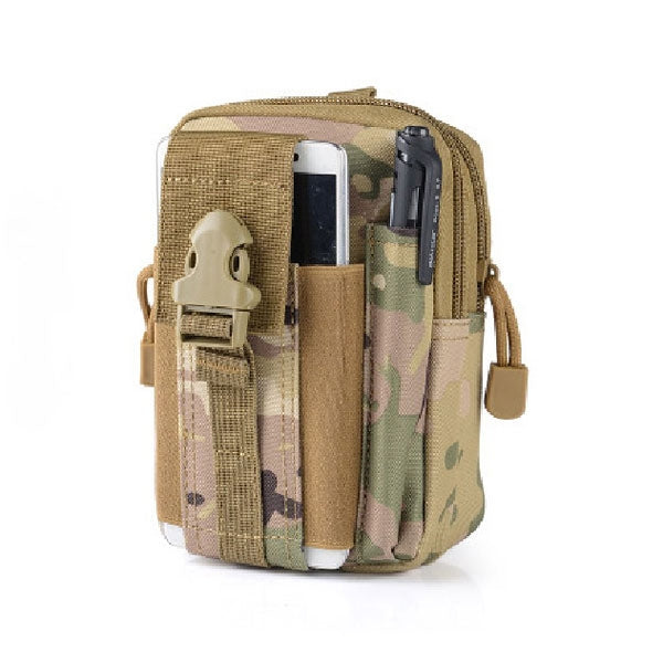 Men Waist Bag Waterproof Universal Outdoor 1000D Oxford Military Tactical Waist Bag for  Mobile Phone Wallet Travel Bag CP
