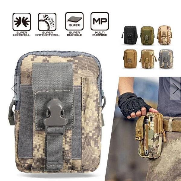Men Waist Bag Outdoor Waterproof  1000D Oxford Military Tactical Waist Bag  Mobile Phone Wallet Travel Bag