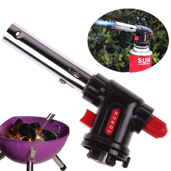 Portable Butane Gas Torch Flamethrower Lighter for Outdoor Camping BBQ Baking