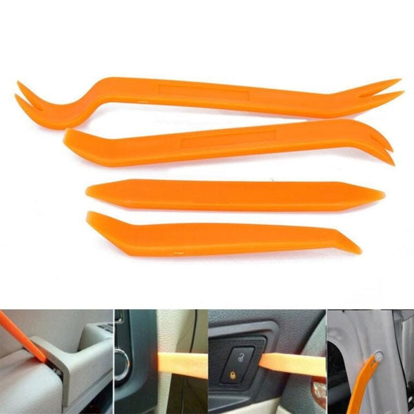 Portable Automotive Panel Plastic Trim Removal Tool Set for Car Dash Radio Audio Installer Pry Tool Orange