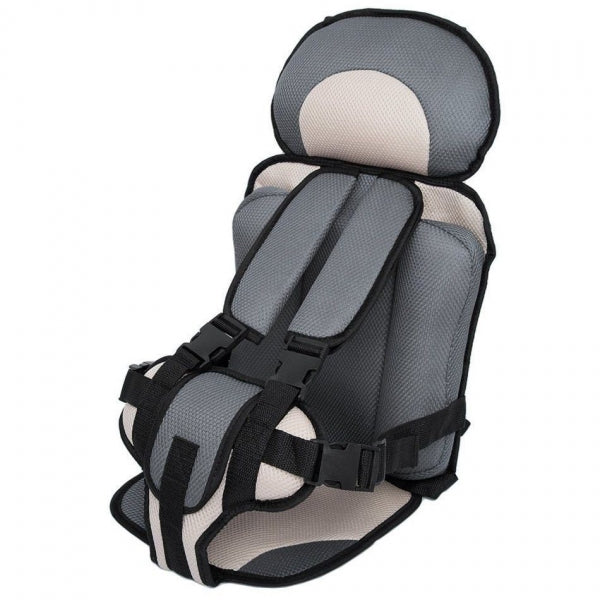 Portable Thickened Baby Child Safety Travel Car Seat Fit Age 2 - 12 Years Old Beige & Gray L