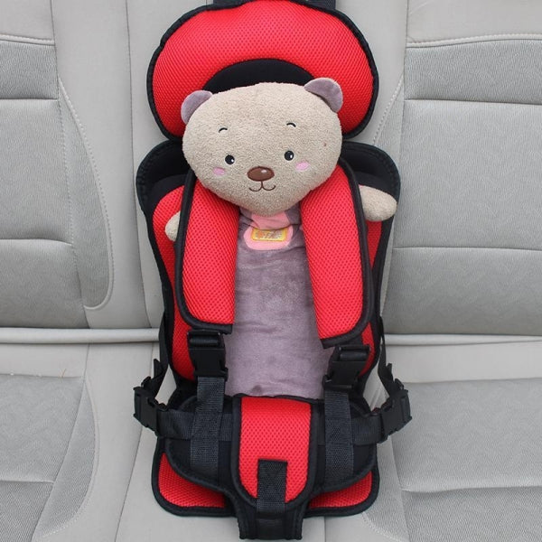 Portable Thickened Baby Child Safety Car Seat Fit Age 2 - 12 Years Old Red L