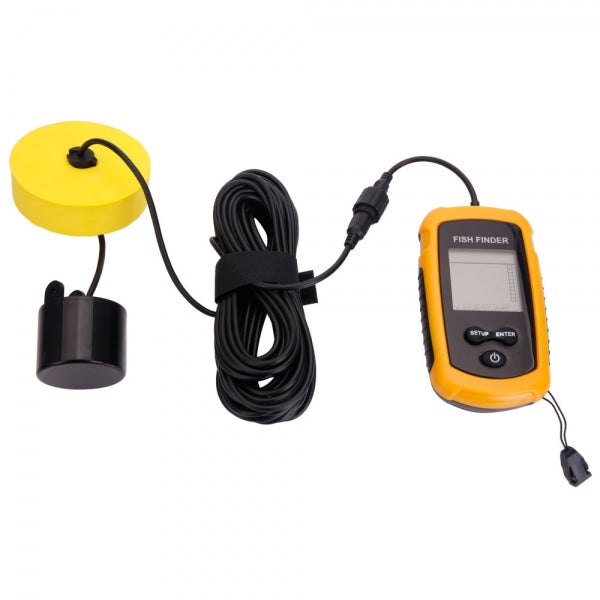 Portable Ultrasonic Wave Sonar Sensor Fish Finder Yellow