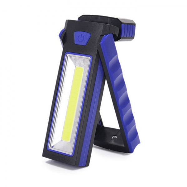 Powerful Dual Magnet Battery Operated LED COB Work Light Tent Camping Lamp Blue