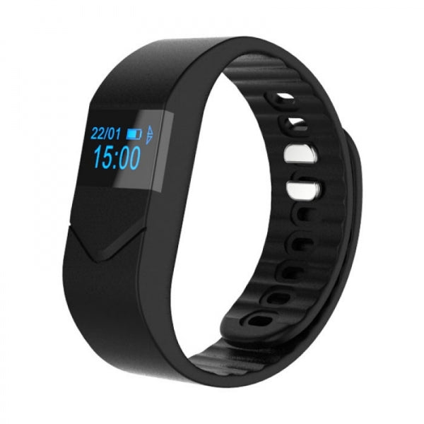Bluetooth Blood Pressure/Oxygen Heart Rate Fitness Smart Wrist Band Bracelet Black
