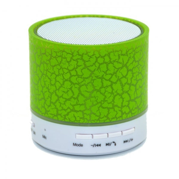 Q1 LED Light Subwoofer TF Card Microphone Bluetooth Speaker Green