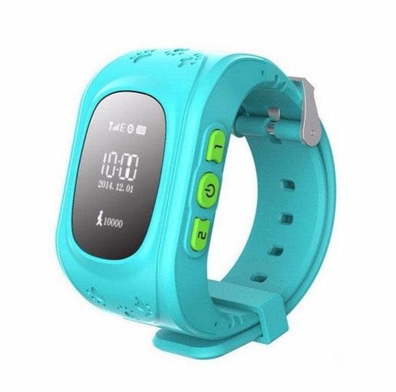 Q50 English Edition Kids GPS Tracker Smartwatch w/ SOS Button Blue